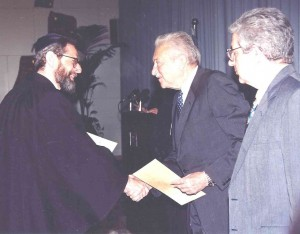 Philip Marcus's Induction by President Ezer Weizmann and Minister of Justice David Libai, February 1995